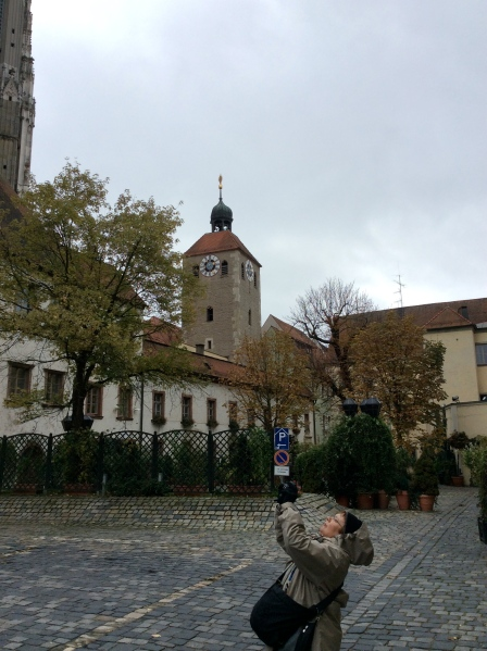 To the right is the tower of the Altes Rathaus, 10-23-14