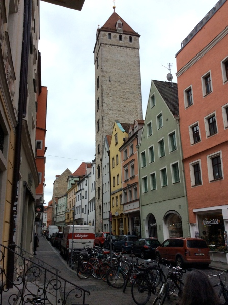The Goldener Turm (Golden Tower) of a wealthy Regensburg family, 10-23-14