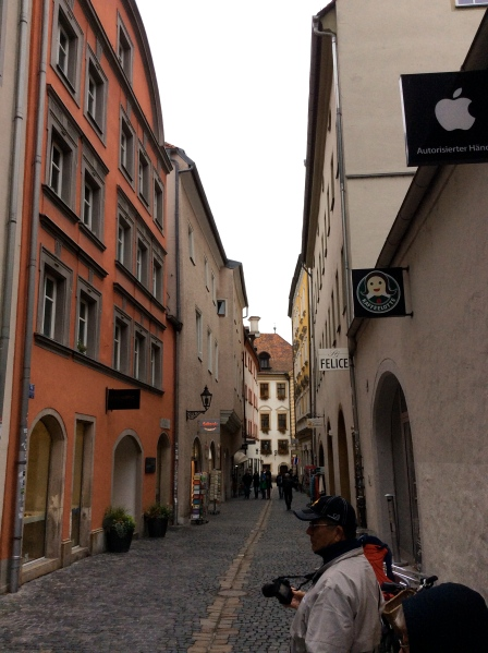 Walking through Regensburg's streets, 10-23-14