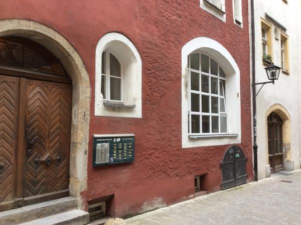 Interesting cellar doors on this building, 10-23-14