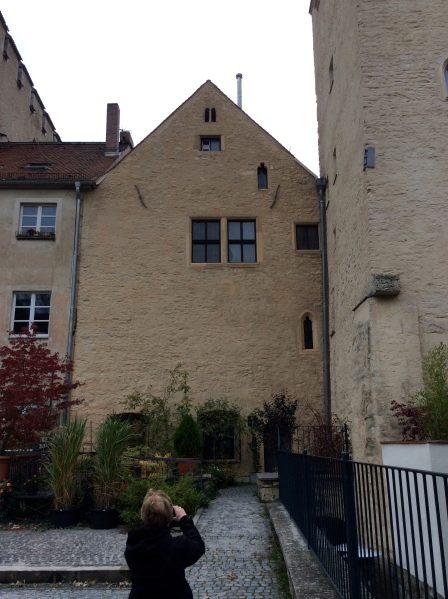 The rear side of Johannes Kepler's house where he died in 1630, 10-23-14