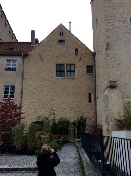 The rear side of Johannes Kepler's house where he died in 1630, 10-23-14