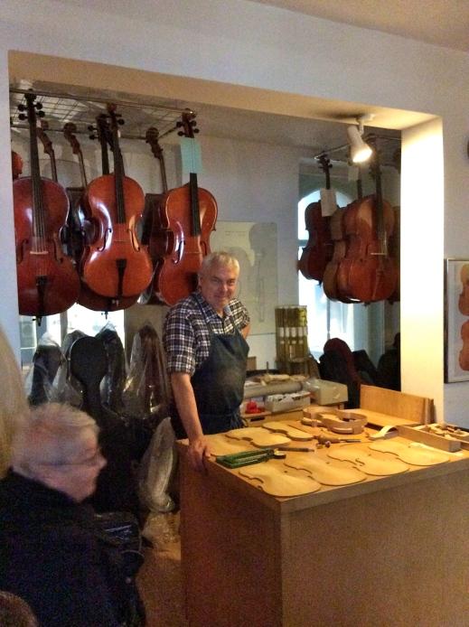 Helmut Poser, Master Violinmaker, 10-23-14