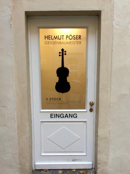 The door to Helmut Poser's shop, 10-23-14