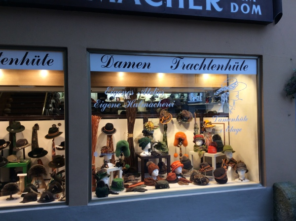 All kinds of wonderful hats at the Hutkönig! (10-23-14)