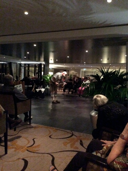 """The """"Oom-pah-pah"""" guy entertaining in the lounge, 10-23-14"""