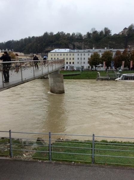 The Salzach River with Staatsbrücke, 10-24-14
