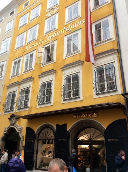 Mozart's  Geburtshaus (birth-house), 10-24-14