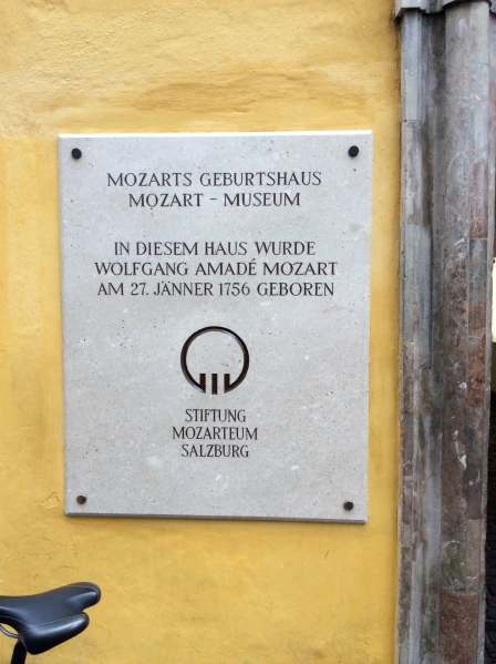 Wolfgang Amadeus Mozart was born here on Jan. 27, 1756 (10-24-14)