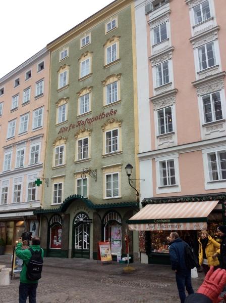 """The oldest pharmacy in Salzburg, the """"Fürsterzbischöfliche Hofapotheke"""", 10-24-14"""