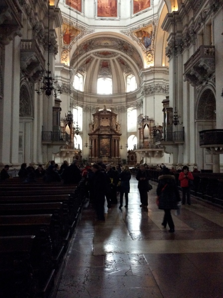Inside the Salzburg Cathedral, 10-24-14