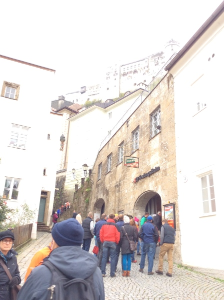 Now approaching the Funicular entrance area, 10-24-14