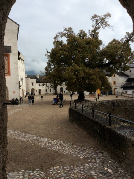 The castle courtyard, 10-24-14