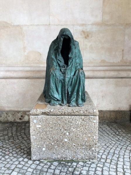 "The ""Die Pieta"" sculpture, which symbolizes the Black Plague, 10-24-14"