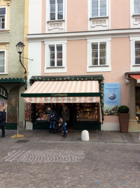 The Josef Holzermayr confection shop where we bought some souvenir candies, 10-24-14