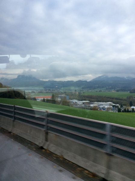 Beautiful views of the passing countryside from the bus, 10-24-14