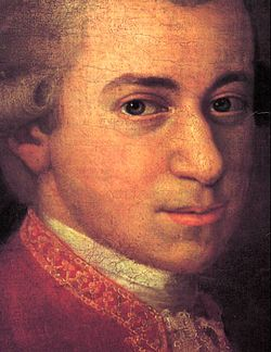Painting of Mozart by Johan Nepomuk della Croce (photo from Wikipedia)