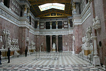 Inside the main hall of the Walhalla, (photo from Wikipedia)