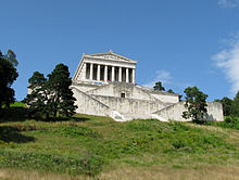 The Walhalla above the Danube, 10 km east of Regensburg (photo from Wikipedia)
