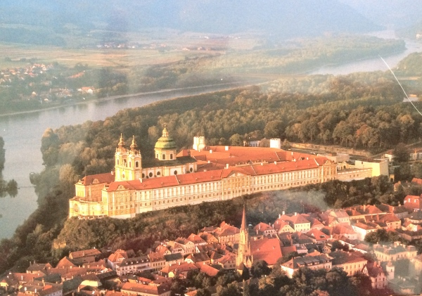 Postcard showing the Melk Abbey