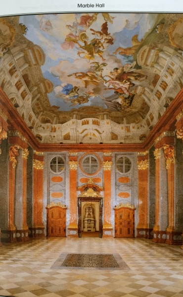 The Marble Hall (photo from Melk Abbey brochure)
