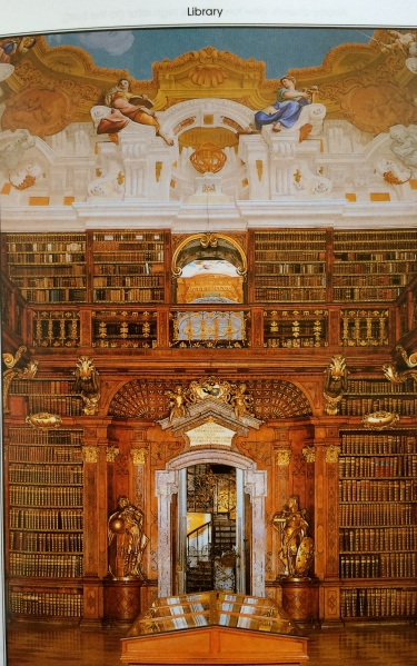 (Photo of the Abbey Library from a Melk Abbey brochure)