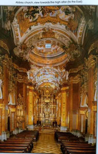 The Abbey Church, looking towards the high altar (photo from the Abbey brochure)