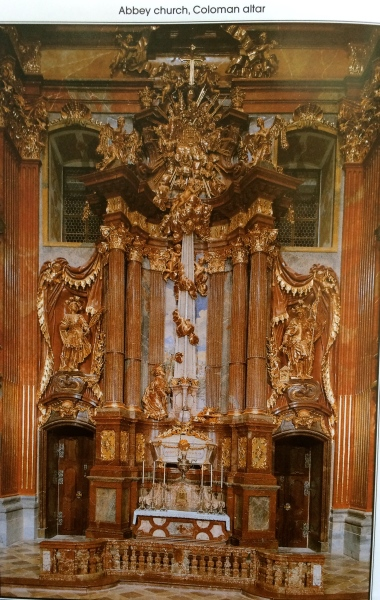 Abbey Church, Coloman altar (photo from Abbey brochure)