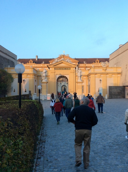 Approaching the gate to the Abbey Courtyard (10-25-14)