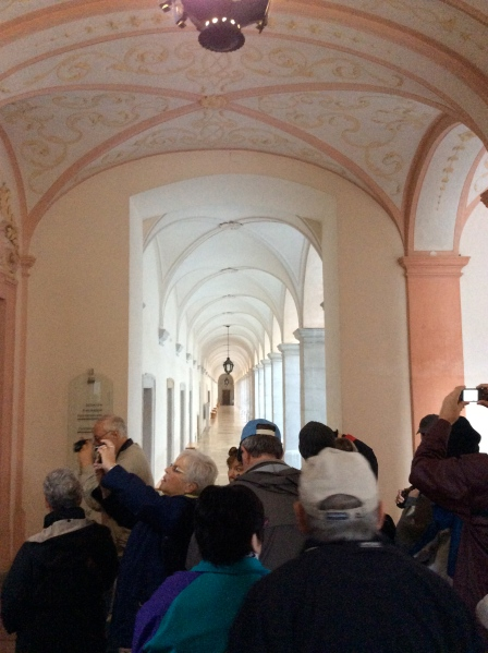 One of the beautiful long halls inside the Abbey (10-25-14)