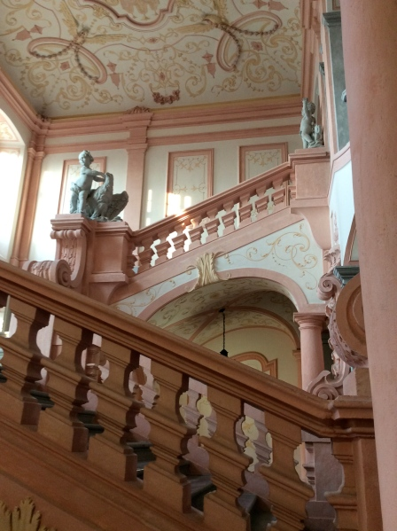 The decorations in and around this lovely staircase reminded me of a wedding cake! (10-25-14)
