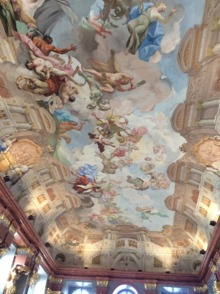 The Marble Hall's ceiling fresco, painted by Paul Troger (10-25-14)
