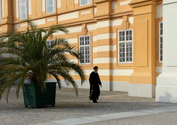 I noticed a monk as we were leaving the Abbey grounds (10-25-14)