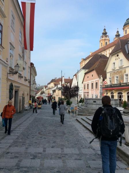 Bill walking in Melk (10-25-14)