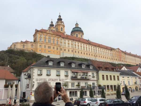 Bill taking a photo of the Abbey (10-25-14)