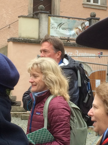 Dallas and Bill following the tour guide in Vienna (photo taken by Sue on 10-26-14)