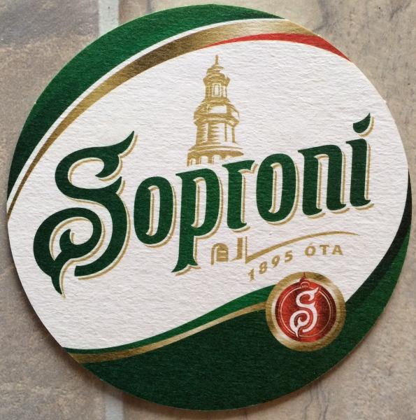 My Soproni bier coaster (10-31-14)