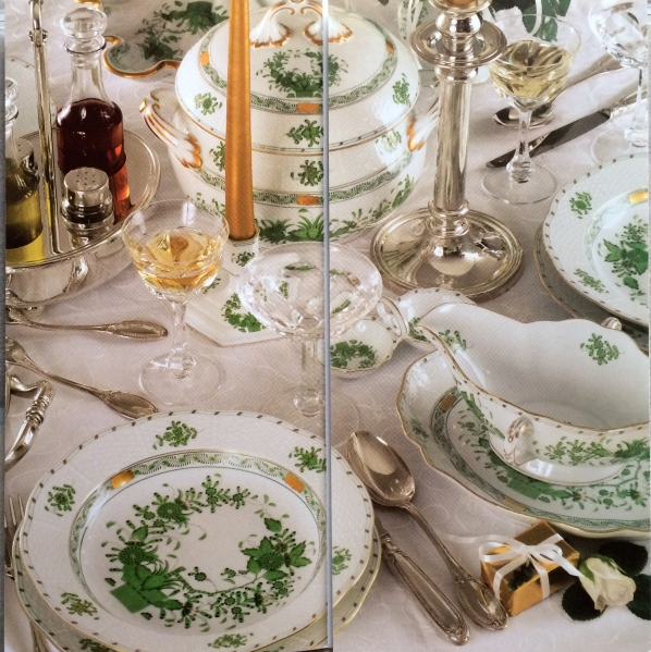 Herend Fleurs des Indes Vertes pattern (photo from Herend brochure)