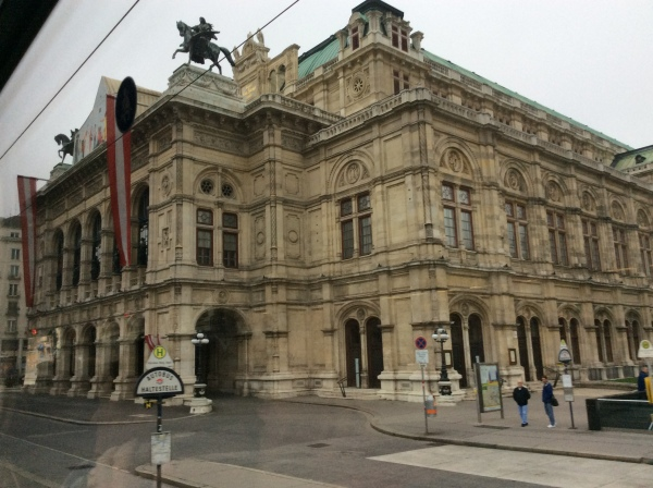 The Vienna State Opera House (Staatsoper), which seats 2,200 people, (10-26-14)