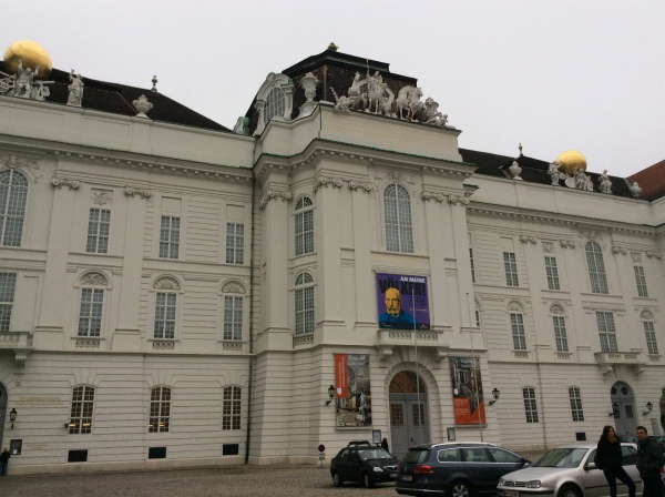 Part of the Hofburg Palace in Joseph Square (Josefsplatz), (10-26-14)