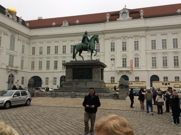 Statue of Emperor Joseph II on his horse in Josefsplatz, (10-26-14)