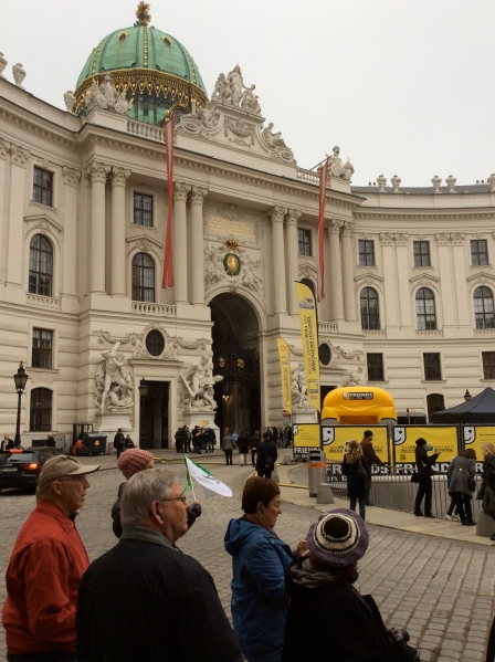 Another wing of the Hofburg Palace, the St. Michael's Wing in the Michaelerplatz, (10-26-14)
