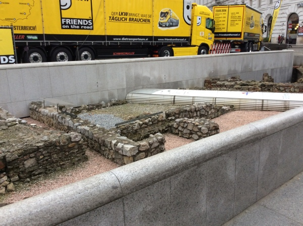 There was some archeological excavations in the Michaelerplatz (10-26-14)