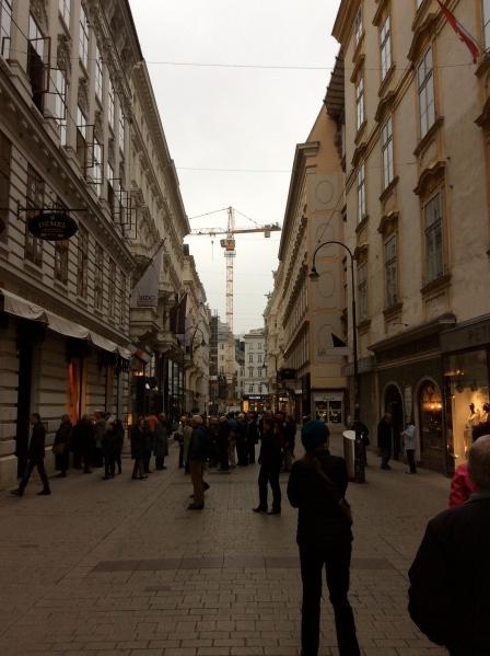 Entering the shopping area, (10-26-14)