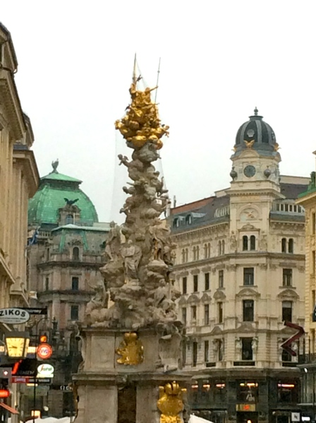 The Pestsäule (Plague Column) on the Graben street, (10-26-14)
