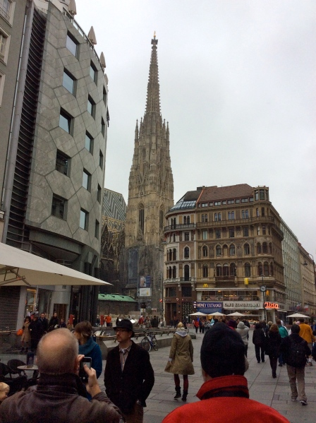 "Approaching ""Stephansdom"" (St. Stephan's Cathedral), (10-26-14)"