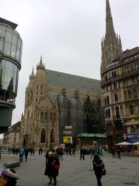 St. Stephen's Cathedral stands on the ruins of 2 earlier churches, one of which was consecrated in 1147, (10-26-14)
