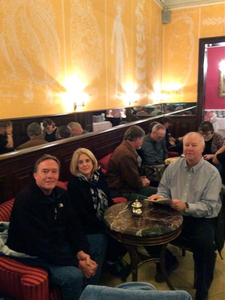 Bill, Susan, Fox, Lois, Bill G., Tom, & Sam in Café Demel (10-26-14)