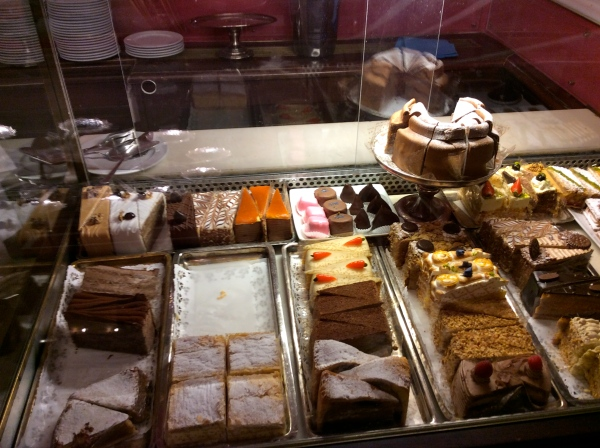 Lovely cakes and desserts in Café Demel (10-26-14)