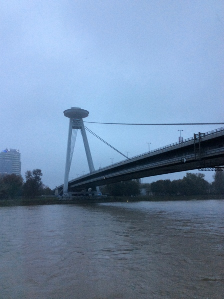 The Slovak National Uprising Bridge in Bratislava, (10-26-14)